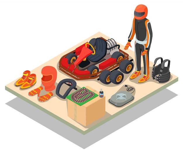 Scena di concept racing