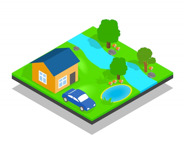Scena di concetto di casa di campagna