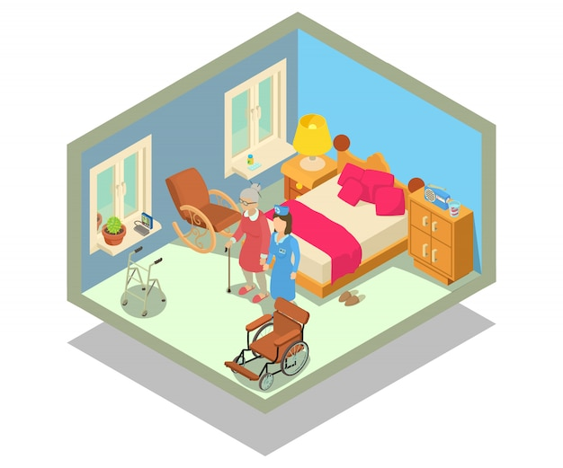 Scena di concetto di casa di riposo
