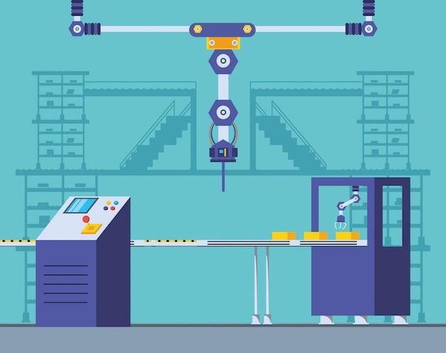 Scena di fabbrica technified