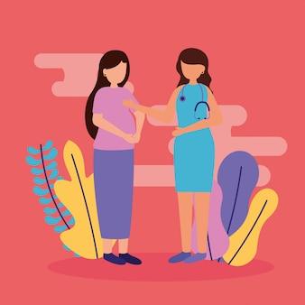 Scena di gravidanza e maternità