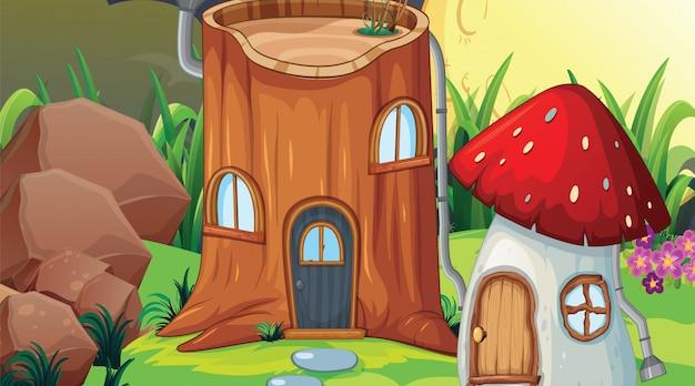 Scena di legno di fantasia o sfondo di sfondo