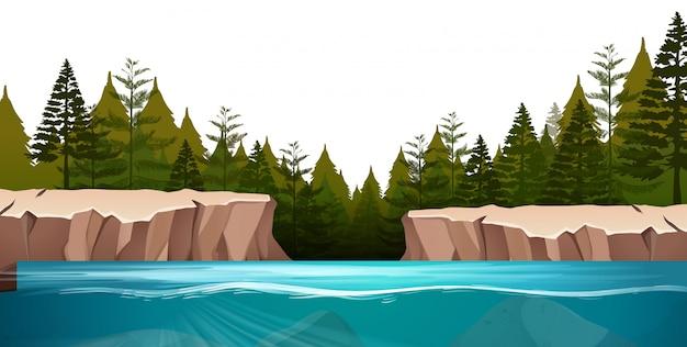 Scena di paesaggio naturale
