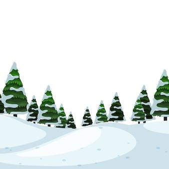 Scena di sfondo forground neve