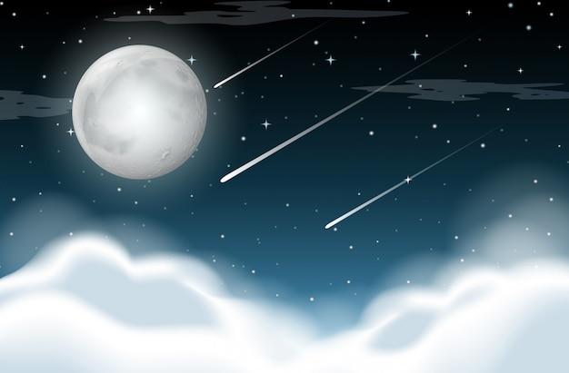 Scena di sfondo notturno