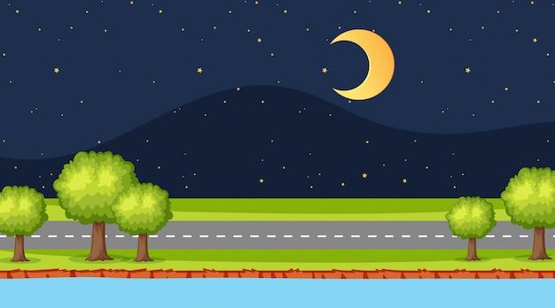 Scena di strada di notte
