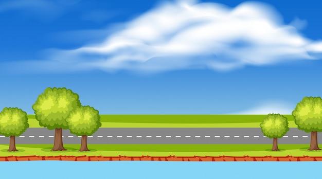 Scena di strada natura vuota