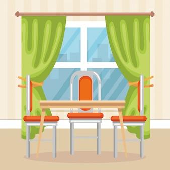 Scena elegante sala da pranzo
