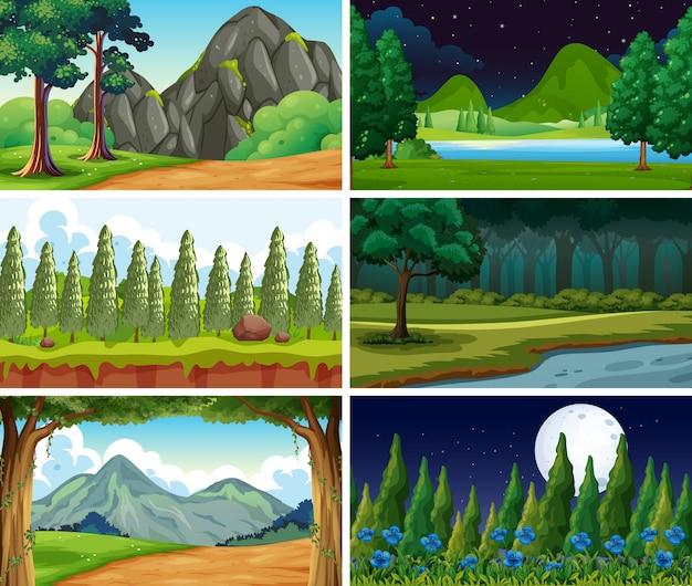 Scena o sfondi vuoti e in bianco della natura del paesaggio