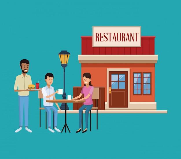 Scenario di costruzione del ristorante