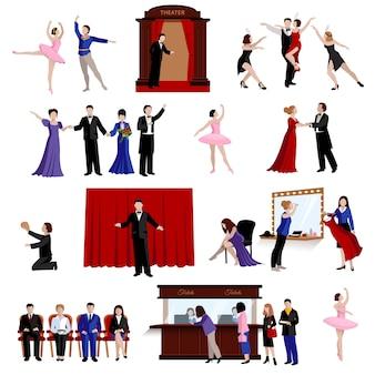 Scene con persone del teatro