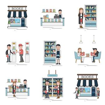 Scene del negozio di libri