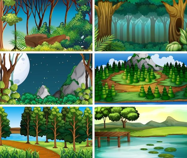 Scene di natura paesaggio vuoto, vuoto