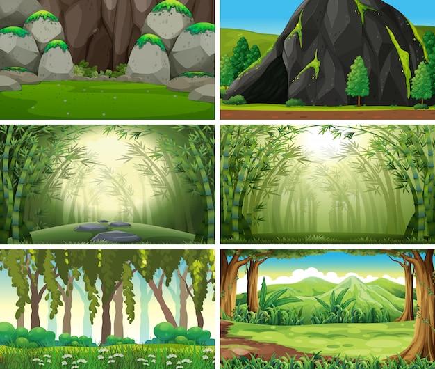 Scene o fondo della natura del paesaggio vuoti e in bianco