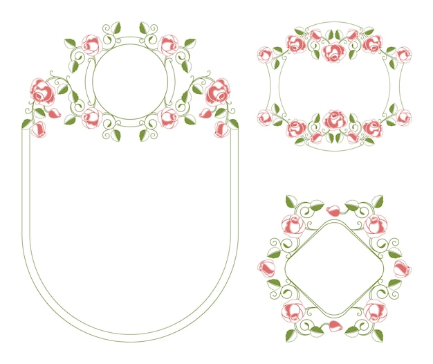 Scenetta e cornici degli ornamenti floreali