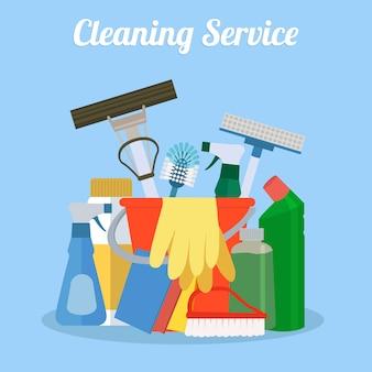 Scenografia di pulizia