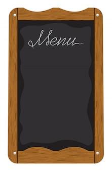 Scheda del menu all'esterno di un ristorante o bar