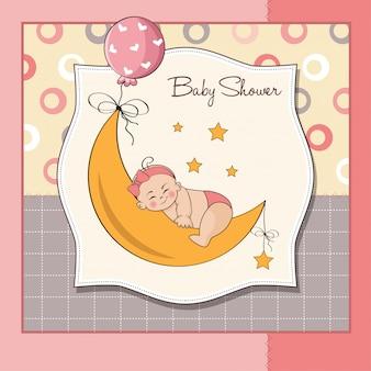 Scheda dell'acquazzone della neonata