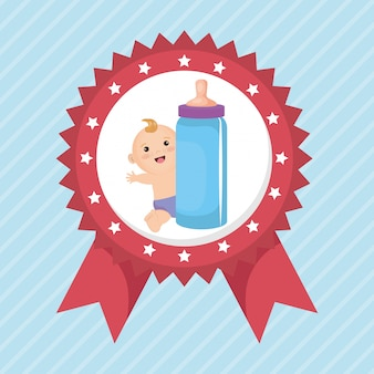 Scheda dell'acquazzone di bambino con il ragazzino