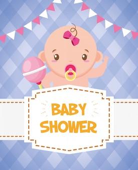 Scheda dell'acquazzone di bambino