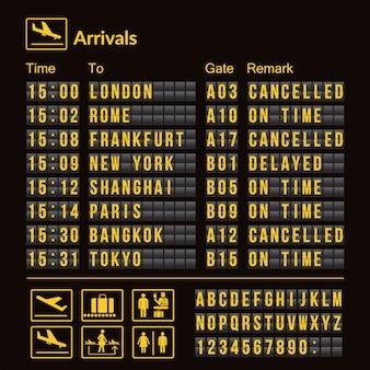 Scheda dell'aeroporto di vettore isolata