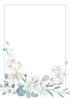 Scheda dell'invito con un tema azzurro
