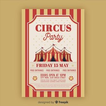 Scheda dell'invito del circo vintage