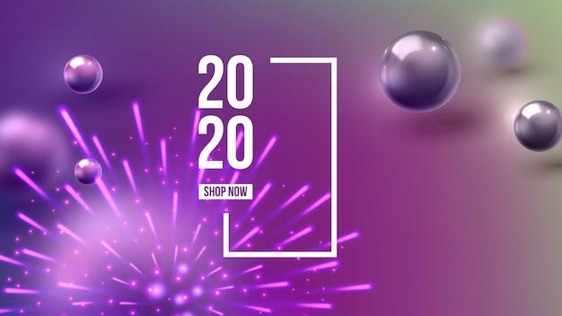 Scheda dell'invito di natale che celebra il 2020