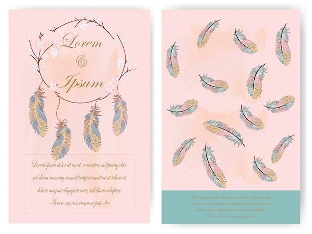 Scheda dell'invito di nozze fiore