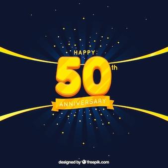 Scheda di anniversario con numeri dorati