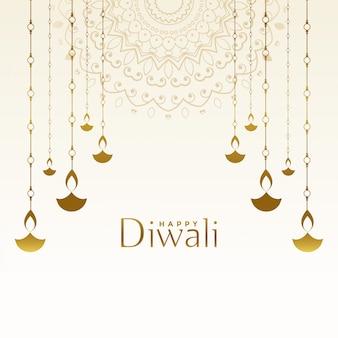 Scheda di festival diwali felice