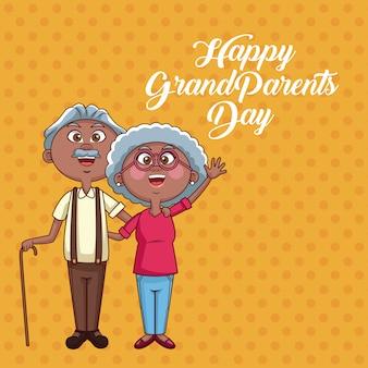 Scheda di giorno di nonni felici
