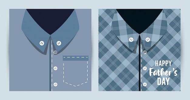 Scheda di giorno di padri felice con camicie maschili