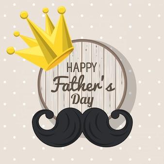Scheda di giorno di padri felice