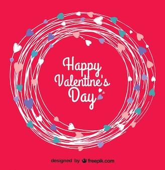 Scheda di giorno disegno vettoriale rosso di san valentino