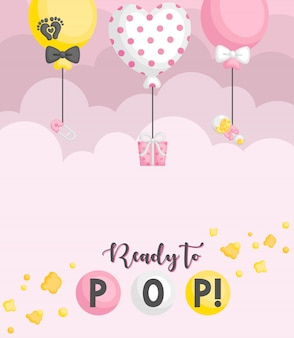 Scheda di palloncino pronta per pop