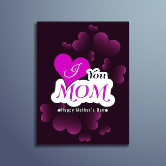 Scheda elegante giorno felice madri