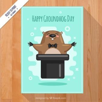 Scheda felice di groundhog day