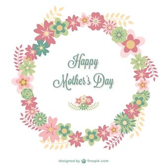 Scheda floreale giorno felice della madre