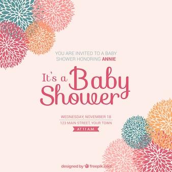 Scheda floreale per baby shower