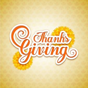 Scheda per il giorno del ringraziamento