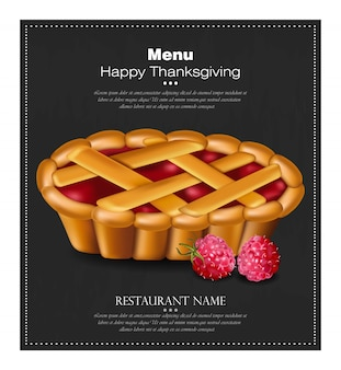 Scheda torta di ringraziamento felice