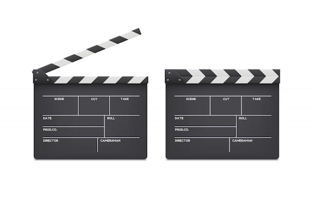 Schede di batacche del film isolate