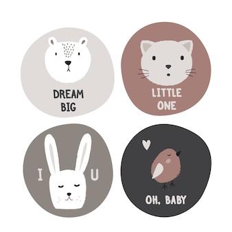 Schede di design per bambini carini.