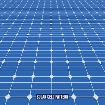 Schema del pannello solare in prospettiva