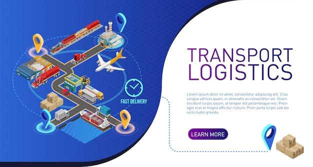 Schema della logistica dei trasporti per il sito web