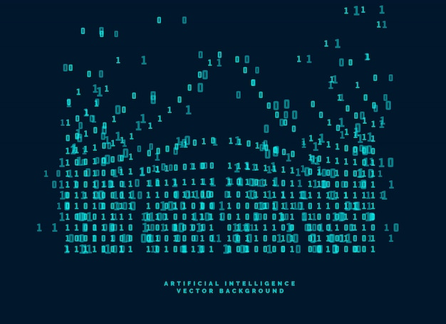Schema di codice digitale per tecnologia e intelligenza artificiale