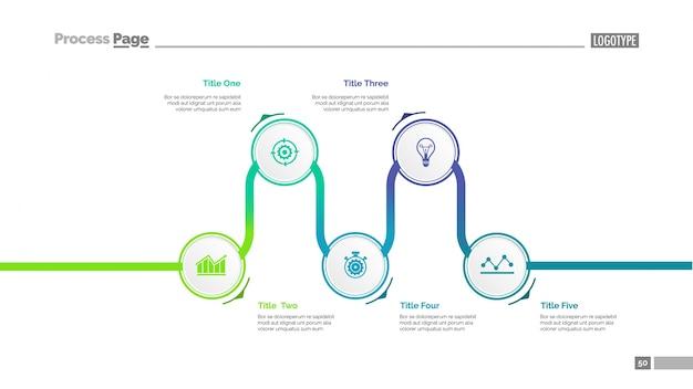 Schema di diapositiva del diagramma di processo