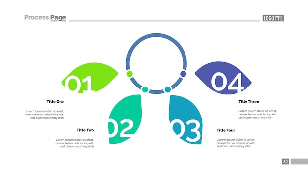 Schema di petali di quattro opzioni. dati aziendali grafico, grafico
