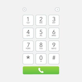Schermata della tastiera del quadrante dello smartphone